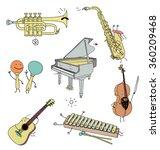 musical instruments  | Shutterstock .eps vector #360209468