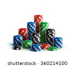 casino chips isolated on white... | Shutterstock .eps vector #360214100