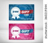 gift card design | Shutterstock .eps vector #360219344