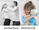 parents quarreling at home ... | Shutterstock . vector #360220118