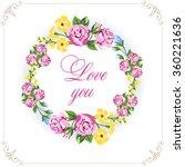 invitation vintage card. floral ...   Shutterstock .eps vector #360221636