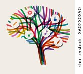 abstract concept of the brain ... | Shutterstock .eps vector #360230390