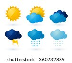 set of weather vector icons | Shutterstock .eps vector #360232889