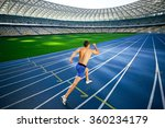 young handsome sportsman... | Shutterstock . vector #360234179