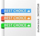 best choice ribbons set. blue ... | Shutterstock .eps vector #360235268