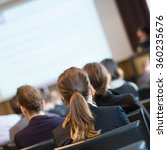 audience in the lecture hall.   Shutterstock . vector #360235676