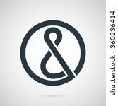 ampersand logo template. the... | Shutterstock .eps vector #360236414