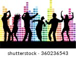 dancing people silhouettes. | Shutterstock .eps vector #360236543