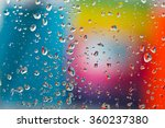 Water Droplets On A Glass With...