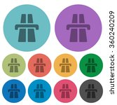 color highway flat icon set on...
