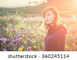 pretty sad young woman waiting... | Shutterstock . vector #360245114