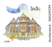 india. delhi | Shutterstock .eps vector #360249299