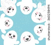 card design funny white fur... | Shutterstock . vector #360258494