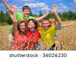 happy family | Shutterstock . vector #36026230