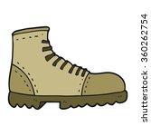 freehand drawn cartoon boot | Shutterstock . vector #360262754