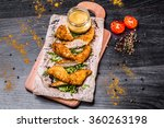 chicken nuggets  breaded posted ... | Shutterstock . vector #360263198