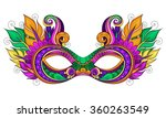 vector ornate colored mardi... | Shutterstock .eps vector #360263549