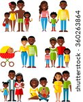 all age group of african... | Shutterstock .eps vector #360263864