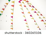 lots of triangular colorful... | Shutterstock . vector #360265106