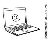 hand draw doodle laptop | Shutterstock .eps vector #360271298