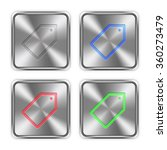 color tag icons engraved in...