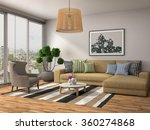 interior with sofa. 3d... | Shutterstock . vector #360274868
