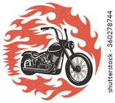 classic chopper motorcycle with ... | Shutterstock .eps vector #360278744