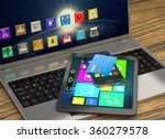laptop  tablet  smart phone and ... | Shutterstock . vector #360279578