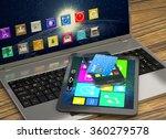 laptop  tablet  smart phone and ... | Shutterstock . vector #360279578