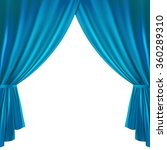 blue theater curtain on a white ... | Shutterstock .eps vector #360289310