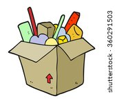 freehand drawn cartoon box of... | Shutterstock . vector #360291503