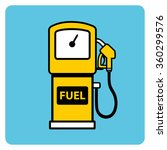 yellow gasoline pump icon on a... | Shutterstock .eps vector #360299576