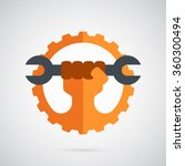 gear logo template. the spanner ...