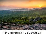 a hot summer sunset over the... | Shutterstock . vector #360303524