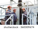 workers repairing power... | Shutterstock . vector #360309674