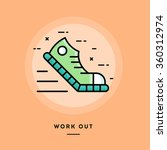 work out  flat design thin line ... | Shutterstock .eps vector #360312974