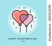 happy valentine's day  flat... | Shutterstock .eps vector #360313490