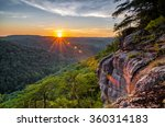 Summer sunset over the Big South Fork National River and Recreation area