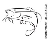 graphic catfish  vector | Shutterstock .eps vector #360315860