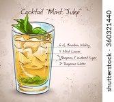 cocktail mint julep | Shutterstock .eps vector #360321440