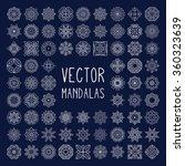 mandalas. vintage decorative... | Shutterstock .eps vector #360323639