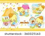 chicken cartoon   Shutterstock .eps vector #360325163