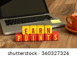 earn points written on a wooden ... | Shutterstock . vector #360327326