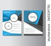 blue black brochure a4 flyer...   Shutterstock .eps vector #360329750