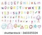 brush font design. hand writing ... | Shutterstock .eps vector #360335324