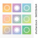 Set Collection Of Nine Vibrant...