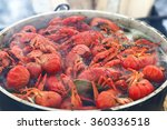 Tasty Red Crabs Are Cooked On ...