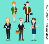 people at work infographics... | Shutterstock .eps vector #360342749