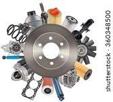 new auto spare parts. auto disk ... | Shutterstock . vector #360348500