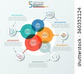 modern infographics options... | Shutterstock .eps vector #360352124